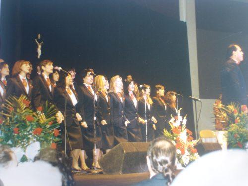 Estreno del segundo disco de la Coral Betania; Betania, luz del mundo, ante 1.500 personas, Garden State Park Pavilion, NJ, EE.UU. (30-11-1996)