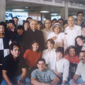 Mrs. Bianchini's first apostolic mission beyond Betania. The Bianchinis, Dr. Dennis Schmilinski, Mrs. Connie Chumaceiro, Betania Foundation, etc., Maracaibo, Edo. Zulia, Venezuela (10-22-1991)