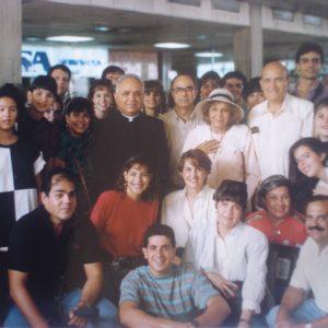 Mrs. Bianchini's first apostolic mission beyond Betania. The Bianchinis, Dr. Dennis Schmilinski, Mrs. Connie Chumaceiro, Betania Foundation, etc., Maracaibo, Edo. Zulia, Venezuela (10-22-1991)