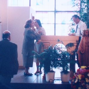 Mrs. Bianchini and Sister Carol Da Vinci, Church Saint Paul, Tampa, FL, USA (02-26-1994)