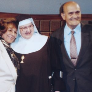 Mrs. Bianchini, Mother Angelica, and Mr. Geo Bianchini, EWTN, AL, USA (04-19-1994)