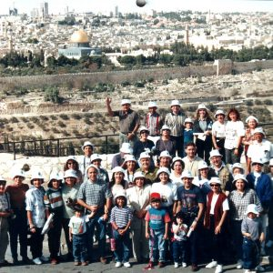 40 pilgrims of the Betania Foundation, Jerusalem, Israel (11-06-1995)