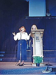 Mrs. Bianchini's speech, Lowell's Memorial Auditorium, MA, USA (04-24-1993)